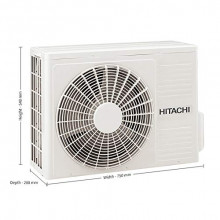 Hitachi 1.5 Ton 3 Star Inverter Split AC (RSNG318HDEAZ2 IN, White, Copper, 2020 Model)