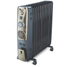 Bajaj Majesty RH 13F Plus 2500 Watts 13 Fins Oil Filled Room Heater (RH 13F, Black/Golden, ISI Approved)