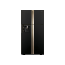 Hitachi 586 L Frost Free French Door Refrigerator (R-W660PND7-GBK, Inverter Compressor, Black)