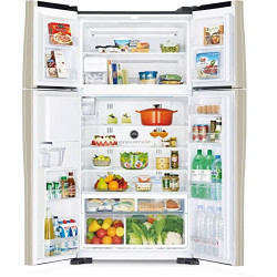 Hitachi 638 L Frost Free Side-by-Side Refrigerator(R-W720FPND1X, Black, Inverter Compressor)