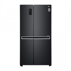LG 687 L Frost Free Side-by-Side Refrigerator(GC-B247SQUV, Matt Black, Inverter Compressor)