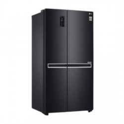 LG 687L Frost Free Side-by-Side Refrigerator(GC-B247SQUV, Matt Black, Inverter Compressor)