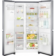 LG 668 L Frost Free Side-by-Side Refrigerator (GC-L247CLAV, Shiny Steel, Inverter Compressor)