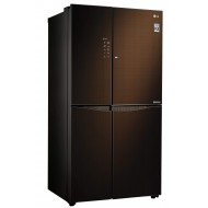 LG 675 L Inverter Linear Door-in-Door Side-by-Side Refrigerator (GC-M247UGLN, Linen Brown)