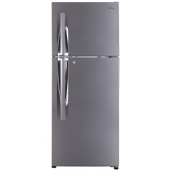 LG 260 L 2 Star Smart Inverter Frost-Free Double Door Refrigerator (GL-S292RDSY, Convertible, Dazzle Steel)