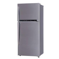 LG 437 L 2 Star Inverter Linear Frost-Free Double-Door Refrigerator (GL-T432FPZU, Shiny Steel, Convertible)