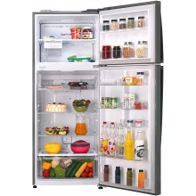LG 471 L 3 Star Inverter Linear Frost-Free Double-Door Refrigerator (GL-T502FPZ3, Shiny Steel, Convertible)