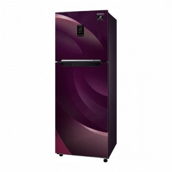 Samsung 314L 2Star Inverter Frost Free Double Door Refrigerator {RT34T46324R/HL, Rythmic twirl red, Convertible}