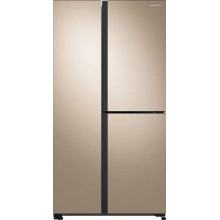 Samsung 689 L Inverter Frost-Free Side-by-Side Refrigerator (RS73R5561F8, Gentle Gold)