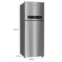 Whirlpool 340 L 3 Star with Inverter Double Door Convertible Refrigerator (IF INV CNV 355 COOL ILLUSIA 3S, Cool Illusia Steel)