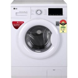 LG 6.0 Kg 5 Star Inverter Fully-Automatic Front Loading Washing Machine (FHM1006ZDW, Luxury Silver, 6 Motion Technology)
