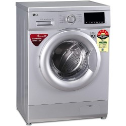 LG 6.5 Kg 5 Star Inverter Fully-Automatic Front Loading Washing Machine (FHM1065ZDL, Luxury Silver, Direct Drive Technology)