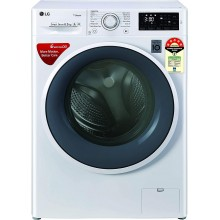 LG 6.5 Kg 5 Star Inverter Fully-Automatic Front Loading Washing Machine (FHT1265ZNW, 6 Motion Direct Drive, White)
