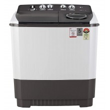LG 10 kg 5 Star Semi-Automatic Top Loading Washing Machine (P1045SGAZ, Wind Jet Dry, Grey)