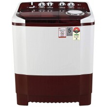 LG 8 Kg 5 Star Semi-Automatic Top Loading Washing Machine (P8035SRMZ, Burgundy, Collar Scrubber)