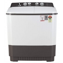 LG 9 kg 5 Star Semi-Automatic Top Loading Washing Machine (P9040RGAZ, Lint collector, Grey)