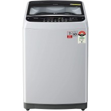 LG 7.0 Kg 5 Star Smart Inverter Fully-Automatic Top Loading Washing Machine (T70SJSF3Z, Middle Free Silver, Jet Spray)
