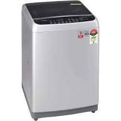 LG 8.0 Kg Inverter Fully-Automatic Top Loading Washing Machine (T80SJSF1Z, Middle Free Silver)