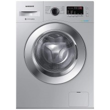 Samsung 6.5 Kg Inverter 5 star Fully-Automatic Front Loading Washing Machine (WW66R22EK0S/TL, Hygiene Steam, Silver)